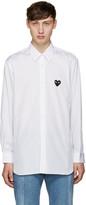 Comme des Garcons White Poplin Heart Shirt