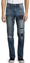 William Rast Deam Slim-Straight Patchwork Jeans