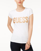 GUESS R3 Glitter-Detail Logo T-Shirt