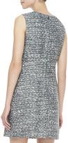 Diane von Furstenberg Capreena Sleeveless Tweed Mini Dress