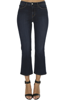 L'Agence Serena High Rise Cropped Baby Flare