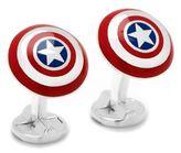 Cufflinks Inc. Cufflinks, Inc Marvel Comics 3D Captain America Shield Cuff Links