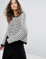 Moon River Drop Shoulder Textured Sweater
