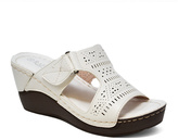 White Perforated Sandal