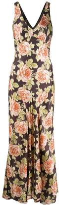 Paco Rabanne floral print maxi dress