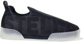 Stella McCartney Embossed Faux Leather And Suede Slip-on Sneakers