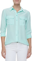 Equipment Vintage Slim Signature Blouse, Ice Green