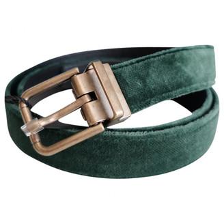 Dolce & Gabbana Green Suede Belts