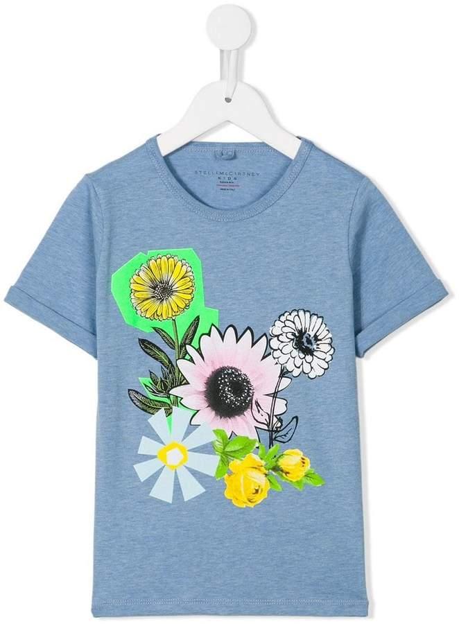 Stella McCartney graphic flowers Lolly T-shirt