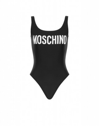 Moschino One-piece Swimsuit With Logo Woman Black Size 36 It - (0 Us)