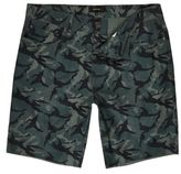 River Island Mens Green camo slim fit shorts