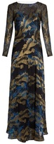 Etro Long-sleeved floral-print gown