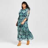 Sami & Dani Women's Plus Size Cold Shoulder Maxi Dress Teal