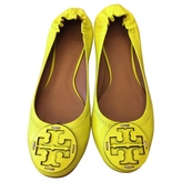 Tory Burch Yellow Leather Ballet flats