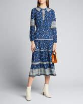 Sea Penelope Long-Sleeve Midi Dress
