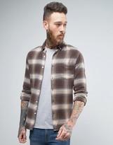 Asos Long Sleeve Skinny Fit Shadow Checked Shirt