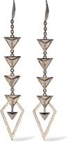 Noir Hostage gunmetal-tone crystal earrings