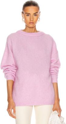 Acne Studios Dramatic Mohair Sweater in Bubblegum Pink | FWRD