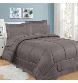 Sweet Home Collection Greek Key 8-Pc. Queen Comforter Set Bedding