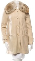 Tory Burch Ivan Fur-Trimmed Coat