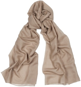 Denis Colomb Cloud Light Brown Cashmere Scarf