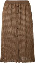 D'enia - textured knit skirt - women - Nylon/Polyester/Acetate - M