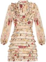 Zimmermann Mischief floral-print pleated silk-organza dress