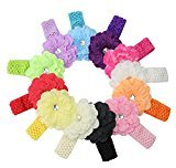 Smile 12pcs/lot Fashion Headbands Baby Girls Flower Elastic Hair Bands P ography Hair Accessories HB829