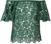 Valentino guipure lace top - women - Cotton/Viscose/Polyamide - 40