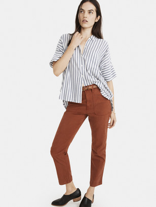 Madewell Mira Short Sleeve Button Down Top