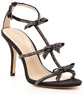 Pelle Moda Kiss Satin & Leather Bow Detail Dress Sandals