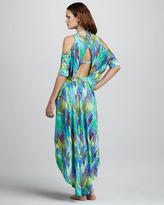 Matthew Williamson Rope-Waist High-Low Jersey Coverup Dress