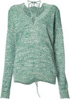 Rosie Assoulin drawstring detail jumper - women - Cotton - XS