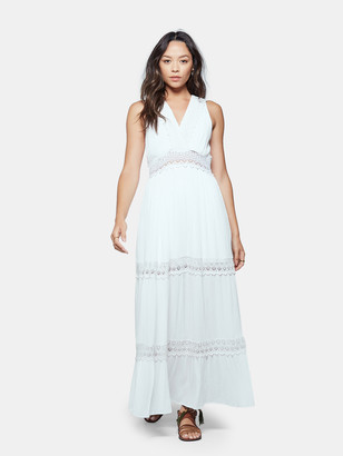 Band of Gypsies Santorini Crochet Inset Maxi Dress