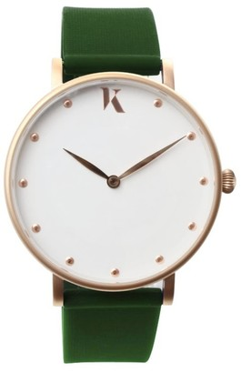 Ksana Emerald Green & Rose Gold Vegan Watch - 38mm