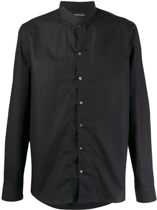 Emporio Armani Band-Collar Dress Shirt