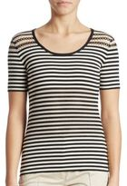 Akris Punto Cotton-Blend Striped Tee