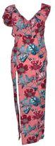 For Love & Lemons Side-slit Floral Dress