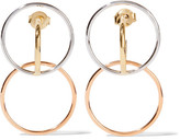 Charlotte Chesnais Galilea Gold And Rose Gold-dipped And Silver Hoop Earrings - one size