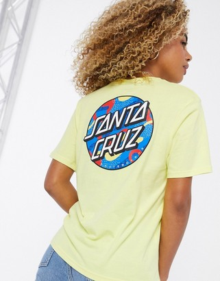 Santa Cruz Primary Dot t-shirt with back print in yellow