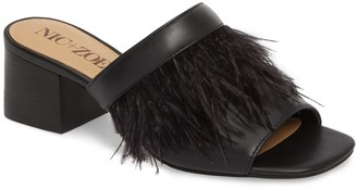 Nic+Zoe Genuine Ostrich Feather Mule