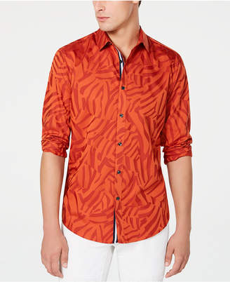 INC International Concepts Inc Men Jacquard Animal Print Shirt