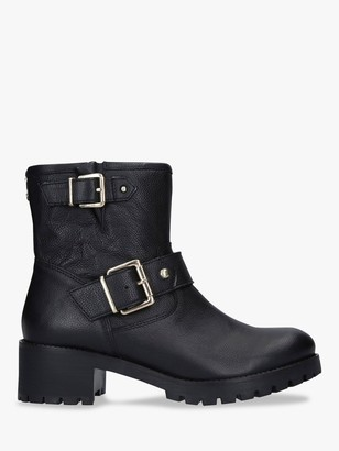 Carvela Shotgun Buckle Detail Ankle Boots, Black