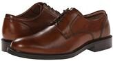 Johnston & Murphy Tabor Dress Plain Toe Oxford (Tan Calfskin) Men's Plain Toe Shoes