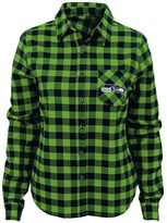 Juniors' Seattle Seahawks Buffalo Plaid Flannel Shirt
