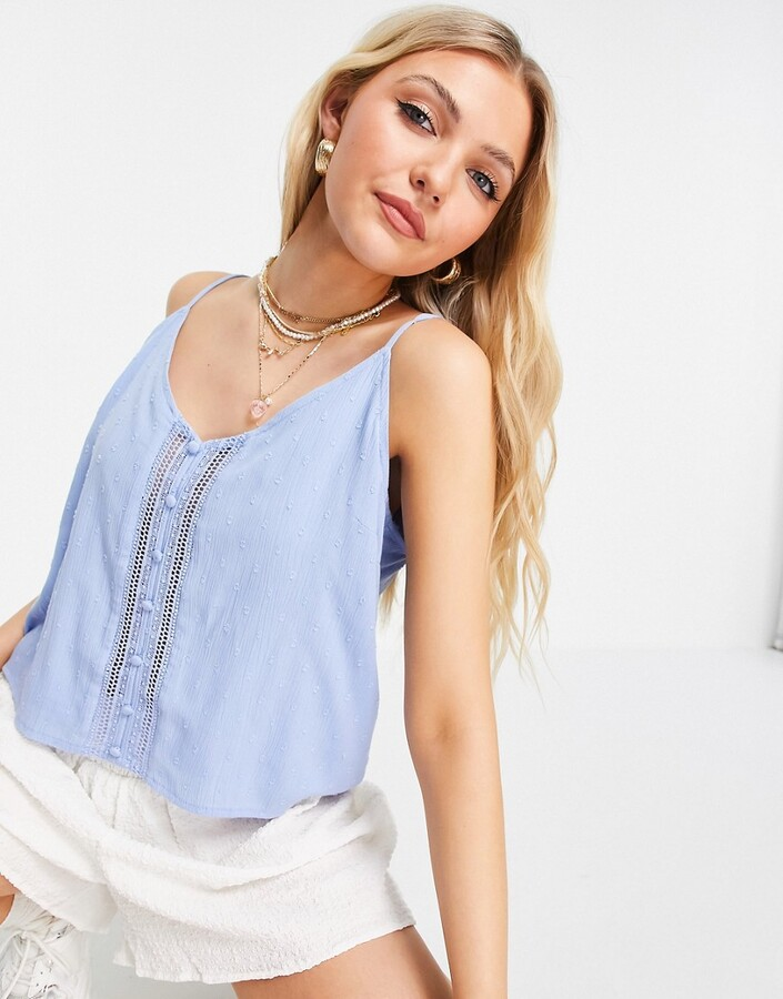 Thumbnail for your product : Pimkie lace detail cami in blue
