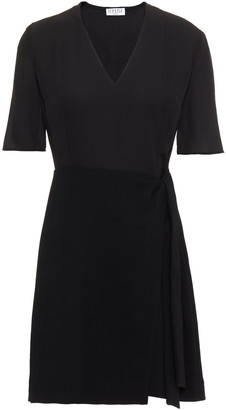 Claudie Pierlot Wrap-effect Crepe De Chine Mini Dress