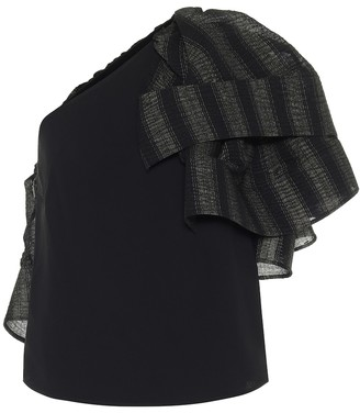 Maticevski Attest one-shoulder crepe top