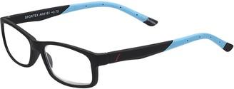 Select A Vision Sportex Readers Men's Plastic Frame Reading Glasses Anti-Glare Brown 1.25