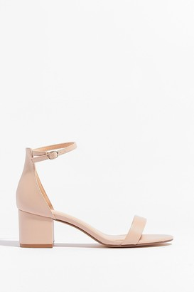 Nasty Gal Womens On the Lowdown Faux Leather Heeled Sandals - Nude